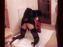 Amateur girl gets knotted before a group of guys