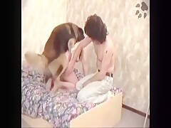 Blonde bitch MILF fucking and sucking her dog - Animals dog